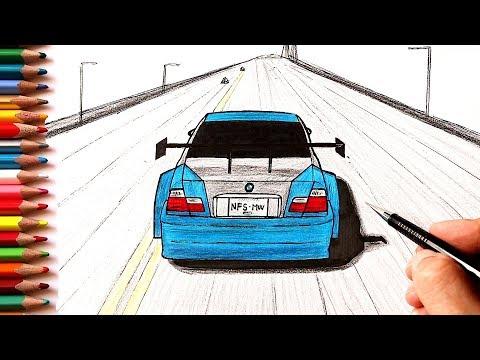 Как нарисовать машину BMW M3 GTR | Most Wanted