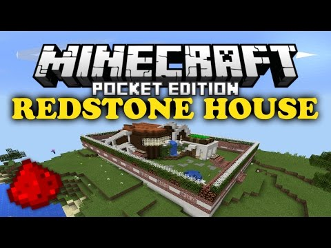 ✔ MCPE Redstone House | Secret Rooms and Lighting