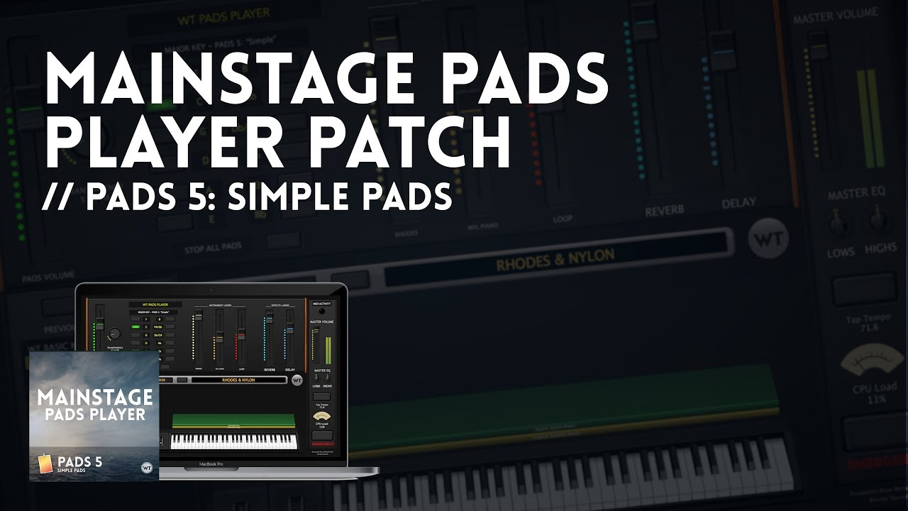 MainStage Pads Player Patches - the BEST way to play Worship