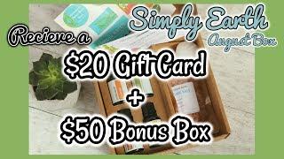 Receive a $20 Gift Card + a $50 Bonus Box | Simply Earth Essential Oils