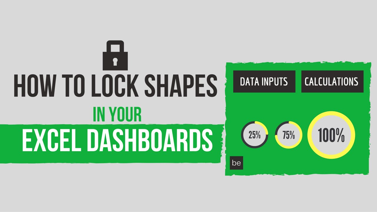 How to lock shapes in your excel dashboards youtube ccuart Image collections