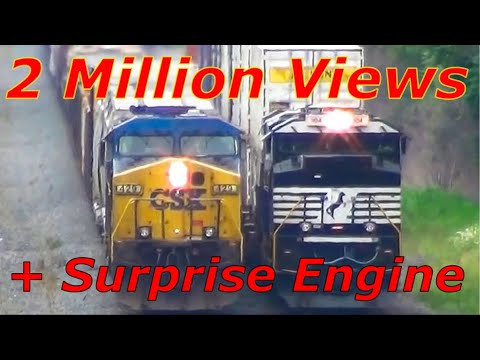 Thumbnail: CSX and NS Trains Racing Side by Side