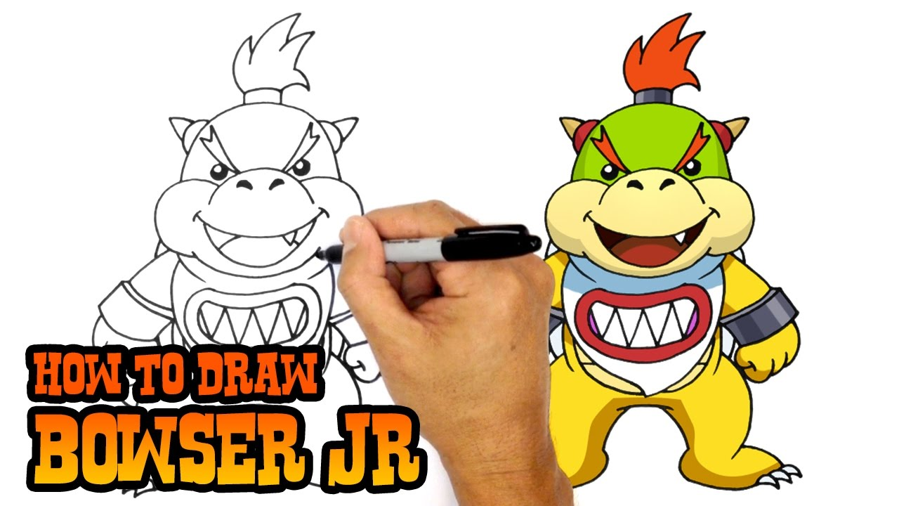 How To Draw Bowser Jr Super Mario Bros Youtube