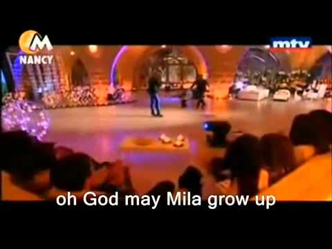 Nancy Ajram Sings For Mila English Subs in MTV Leylate Eidek 2011