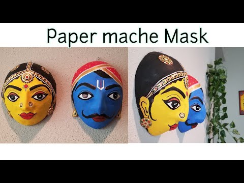 How to make Mask with paper mache