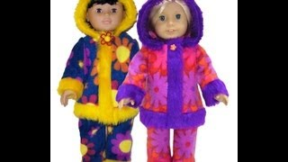 American Girl Doll Clothes Patterns Winter Funky Fur Preview