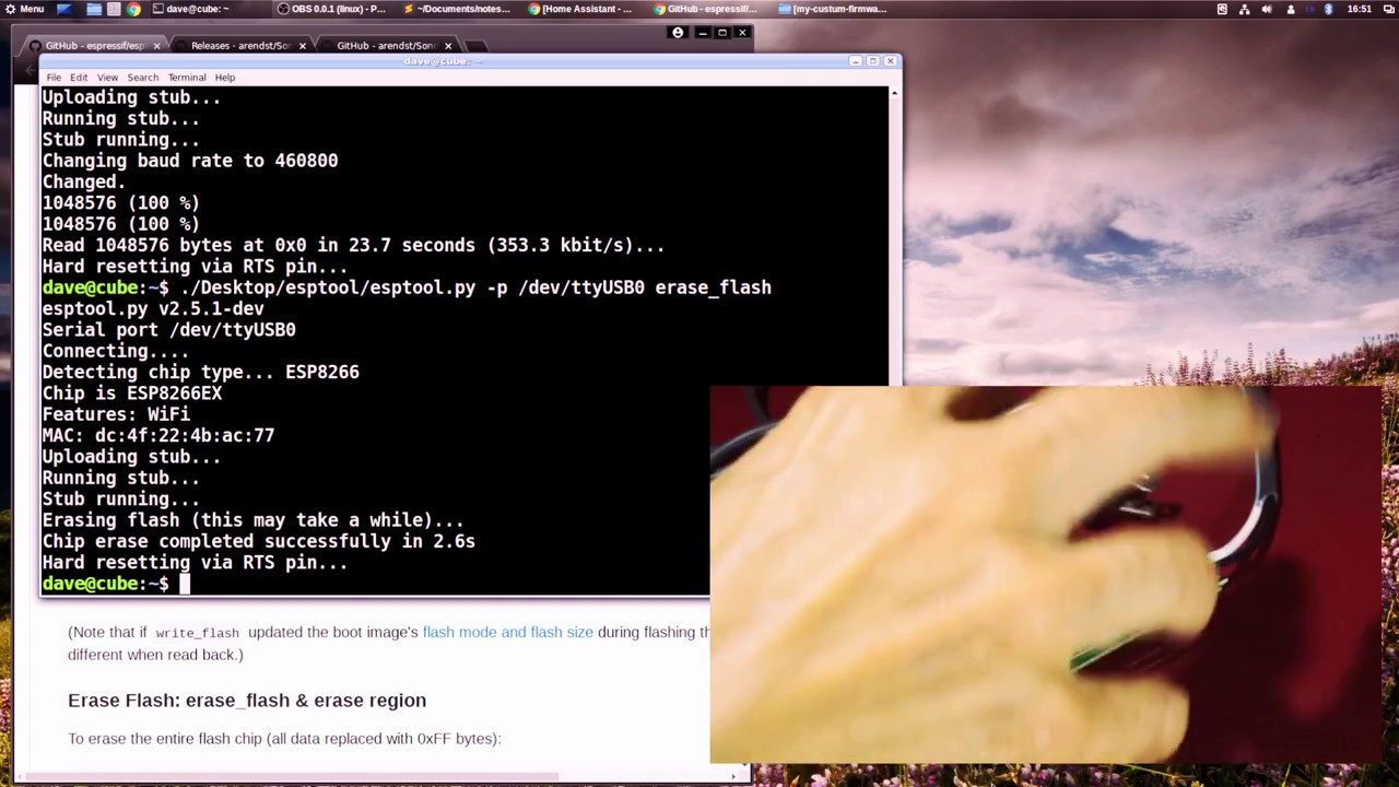 How to backup / save original software Sonoff firmware works