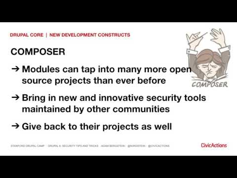 Drupal 8 Security Tips and Tricks - Stanford Drupal Camp 2017