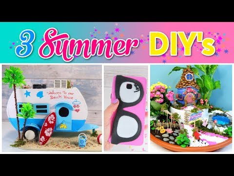 3 SUMMER Crafts To Do When You're BORED! SIMPLE COMPILATION DIY! Amazing DIYs & Craft Hacks!