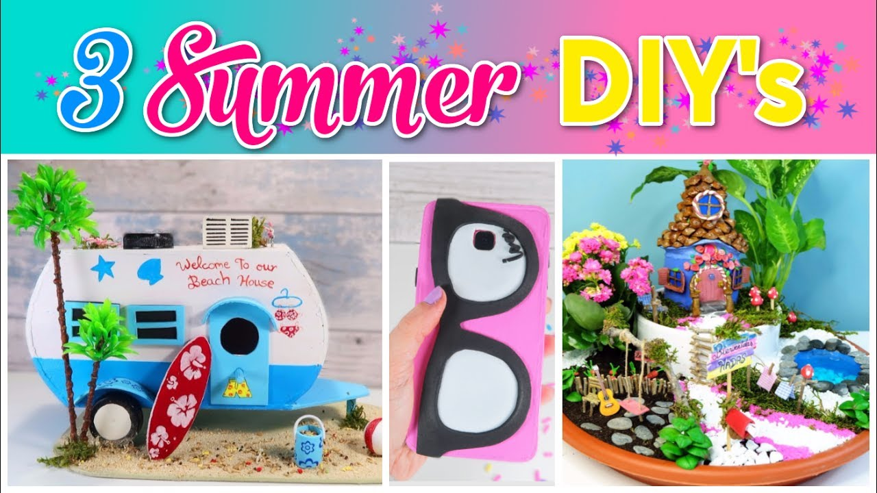 3 SUMMER Crafts To Do When Youre BORED SIMPLE COMPILATION DIY Amazing DIYs Craft Hacks