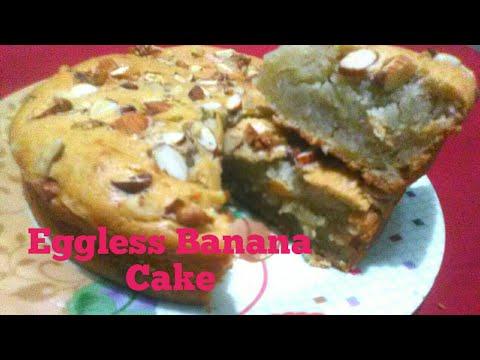 Banana Cake Eggless In Hindi
