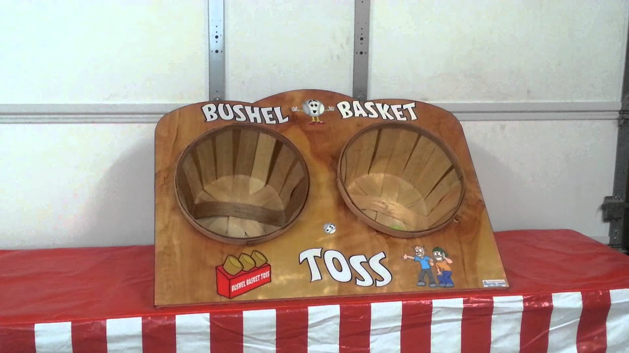 bushel basket toss youtube