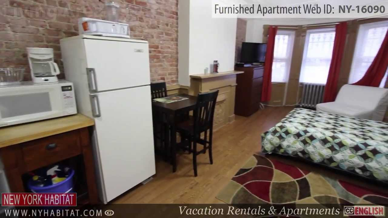 Furnish Studio Apartment video tour of a furnished studio apartment in bushwick, brooklyn