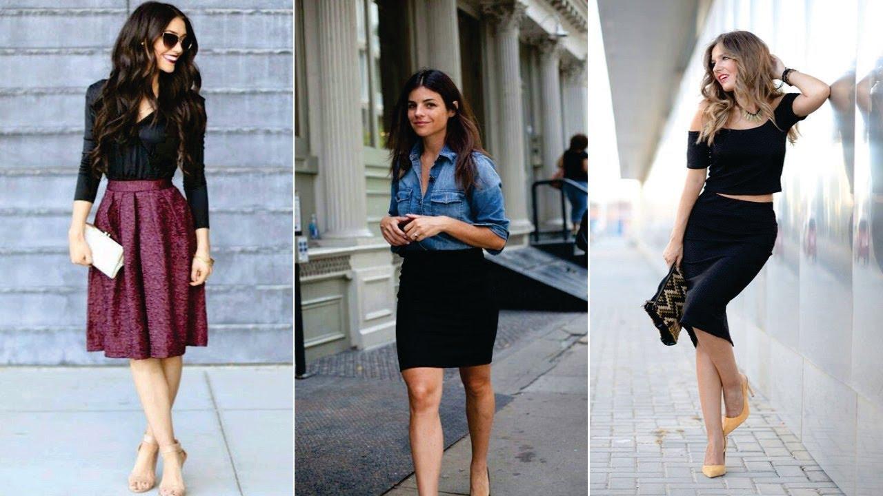 Outfits con faldas moda y tendencias 2018 youtube - Modelos de faldas de moda ...