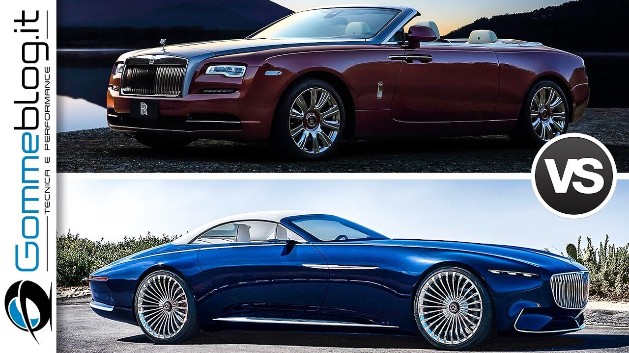 mercedes maybach 6 cabriolet vs rolls royce dawn top. Black Bedroom Furniture Sets. Home Design Ideas