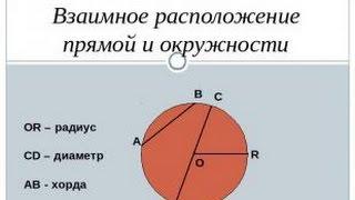 Взаимное расположение прямой и окружности