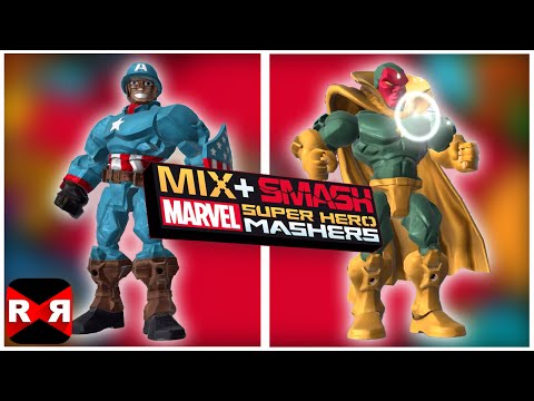 Marvel Super Hero Mashers - Classic Captain America and Vision - Mix+Smash - iOS / Android Gameplay