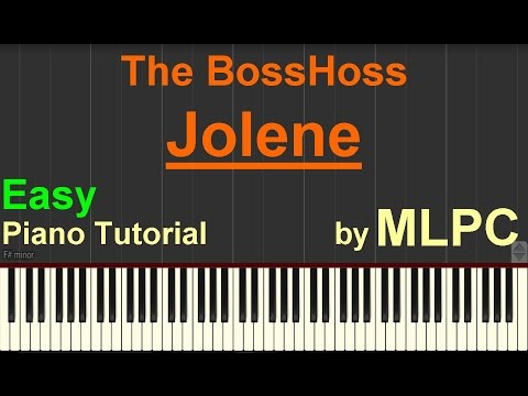 The BossHoss - Jolene (Easy Version) I Piano Tutorial by MLPC