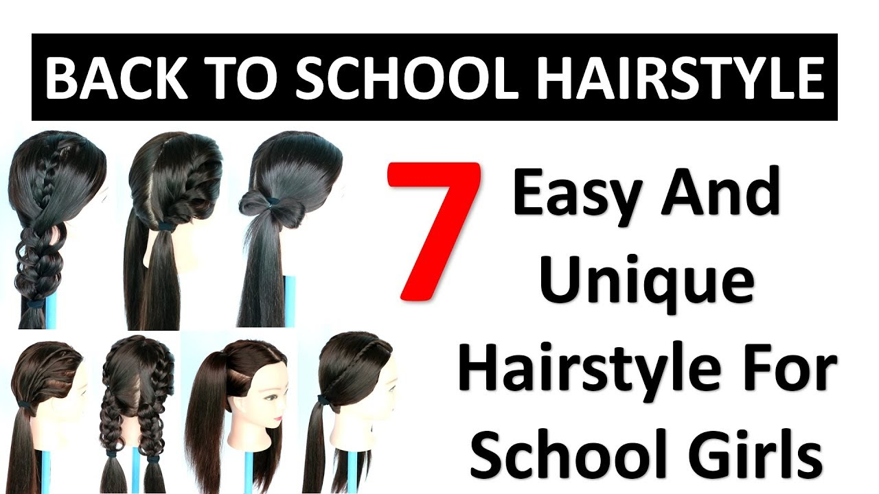 7 Easy And Unique School Hairstyle For Girls Cute Hairstyles School Hairstyles Easy Hairstyles Youtube