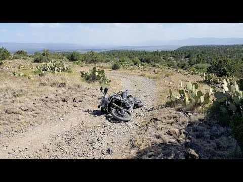 First time riding my F800GS Adventure on dirt in Arizona