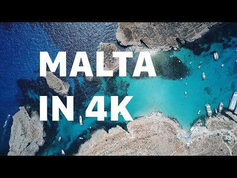 Malta beaches by drone in 4k