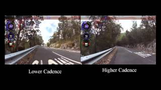 "Cycling hill climbing high or low cadence what""s best"