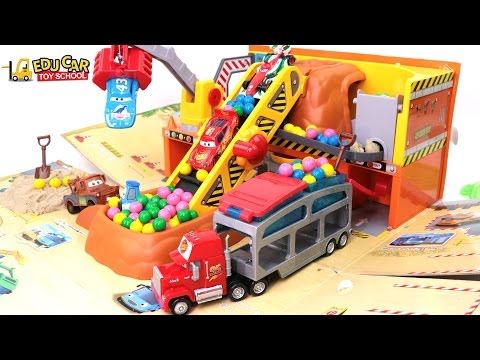 Thumbnail: Learning Color Special Disney Pixar Cars Lightning McQueen Mack Truck KineticSand for kids car toys