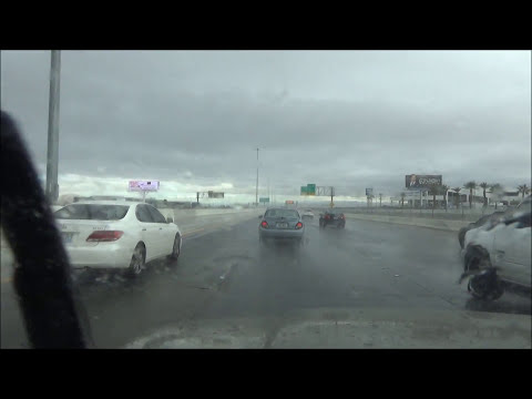 Heavy Rain Drive from Las Vegas, NV to Primm, NV I-15 South