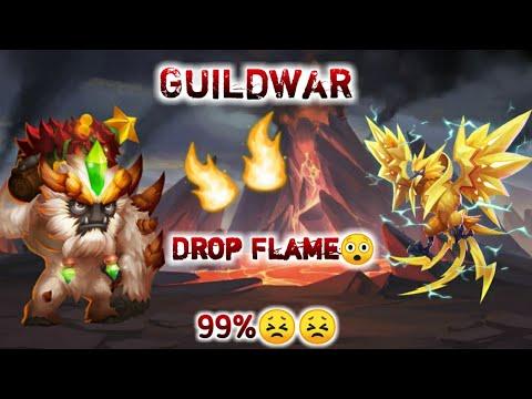 Guildwar | Lazulix And Sasquatch | Drop Flame | 99%😲😲😲 | Castle Clash