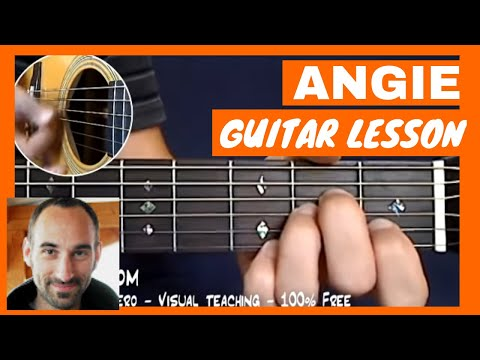 Rolling Stones - Angie Guitar Tutorial