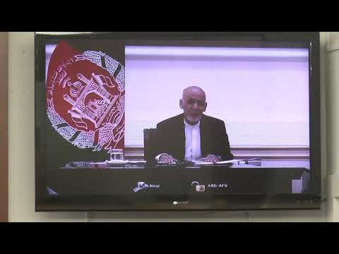 A Conversation with Dr. Ashraf Ghani, President of Afghanistan