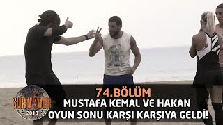 Mustafa Kemal ve Hakan oyun sonu karşı karşıya geldi! | 74. Bölüm | Survivor 2018