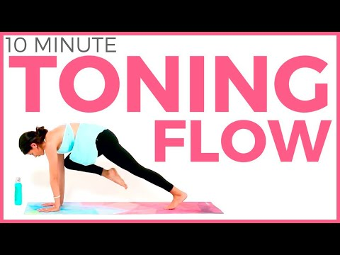 10 minute Power Morning Yoga for Weight Loss & TONING |  Sarah Bet…