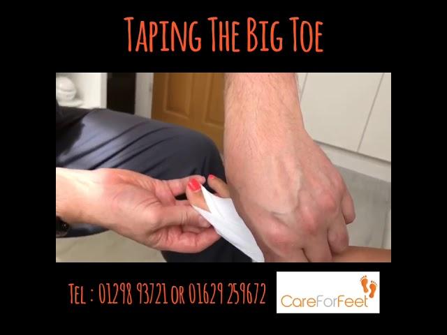 Taping The Big Toe