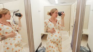 Trying On Maternity Photoshoot Dresses! 27 Weeks With The Twins!