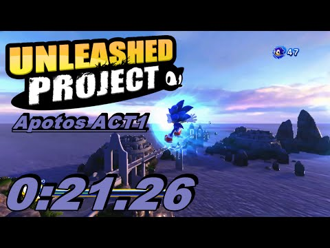 Sonic Generations - Apotos Act 1 - Speed Run - 0:21.26