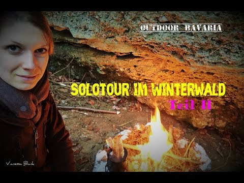 Schneebedeckt- Wintersolotour Teil 2 - Vanessa Blank - Outdoor Bavaria - Bushcraft & Survival