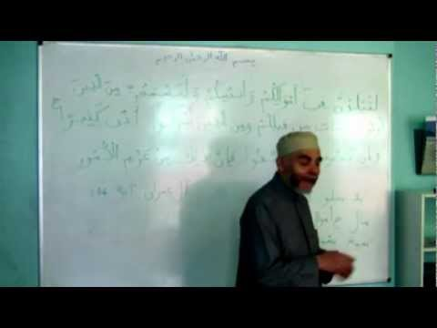 Shaykh Tijany: Arabic Course Lesson 11.3 - Various Verses for Revision & Dual and Plural Nouns