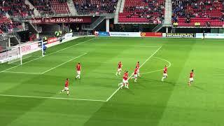Wout Weghorst scores penalty! (AZ Alkmaar vs. ADO Den Haag 19.08.2017)