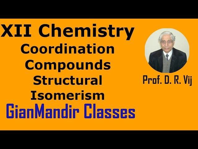 XII Chemistry | Coordination Compounds | Structural Isomerism by Gourav Sir