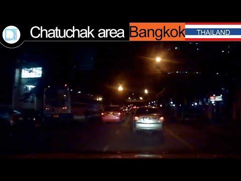 Driving night time  Chatuchak area l Bangkok l Thailand l Drive together