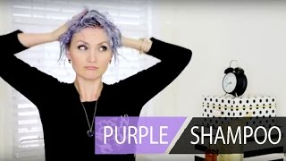 The New Way to Use Purple Shampoo on Platinum Hair