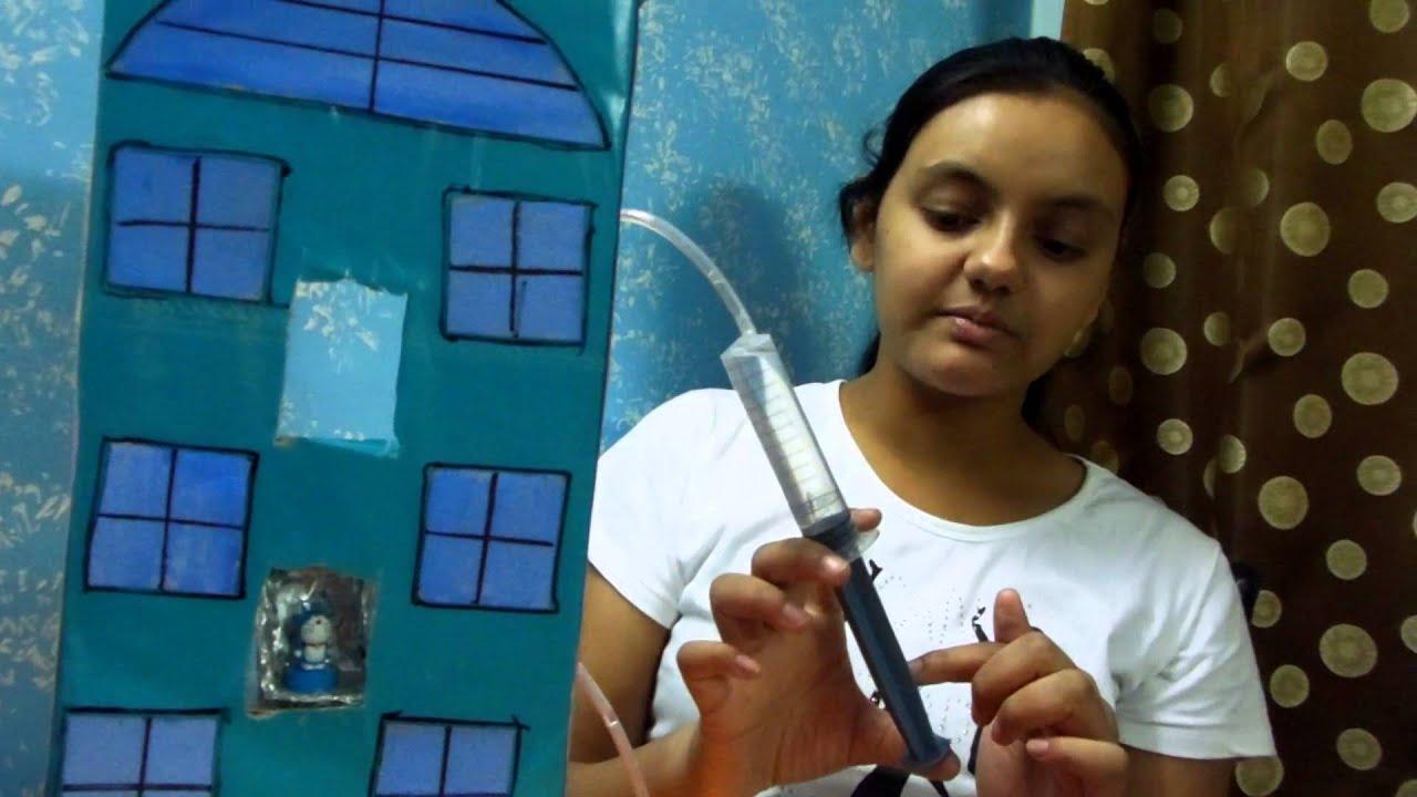 Hydraulic Lift Project : Swati s science project hydraulic lift july youtube