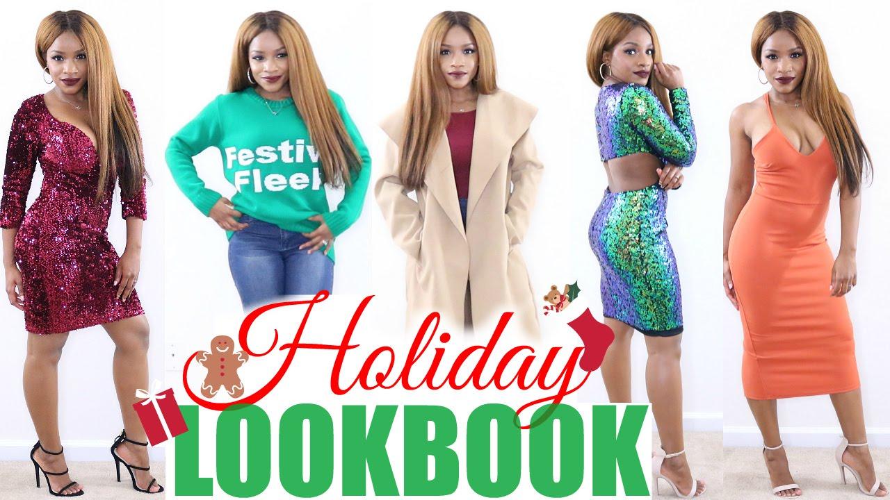 316eeba3783 Boohoo Holiday Party Try-On Haul
