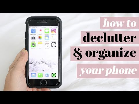 HOW I DECLUTTER AND ORGANIZE MY PHONE 📱 | minimalist edition