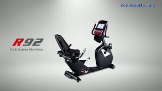 горизонтальный велотренажер Sole Fitness R92. Обзор