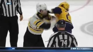 Adam McQuaid fights Derek Grant 1/12/17