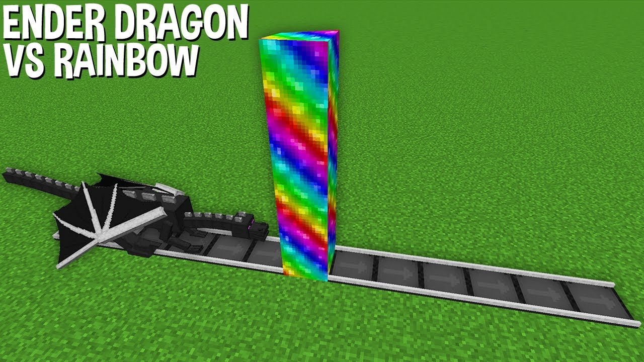 What will happen to this ENDER DRAGON in RAINBOW LIQUID in Minecraft !