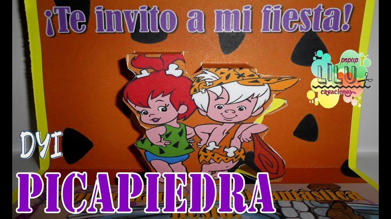 Los Picapiedra Bam Bam Pebbles Diy Invitacion Infantil