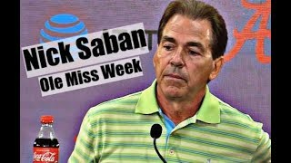 Alabama Crimson Tide Football: Nick Saban says Ole Miss will present challenges in week three